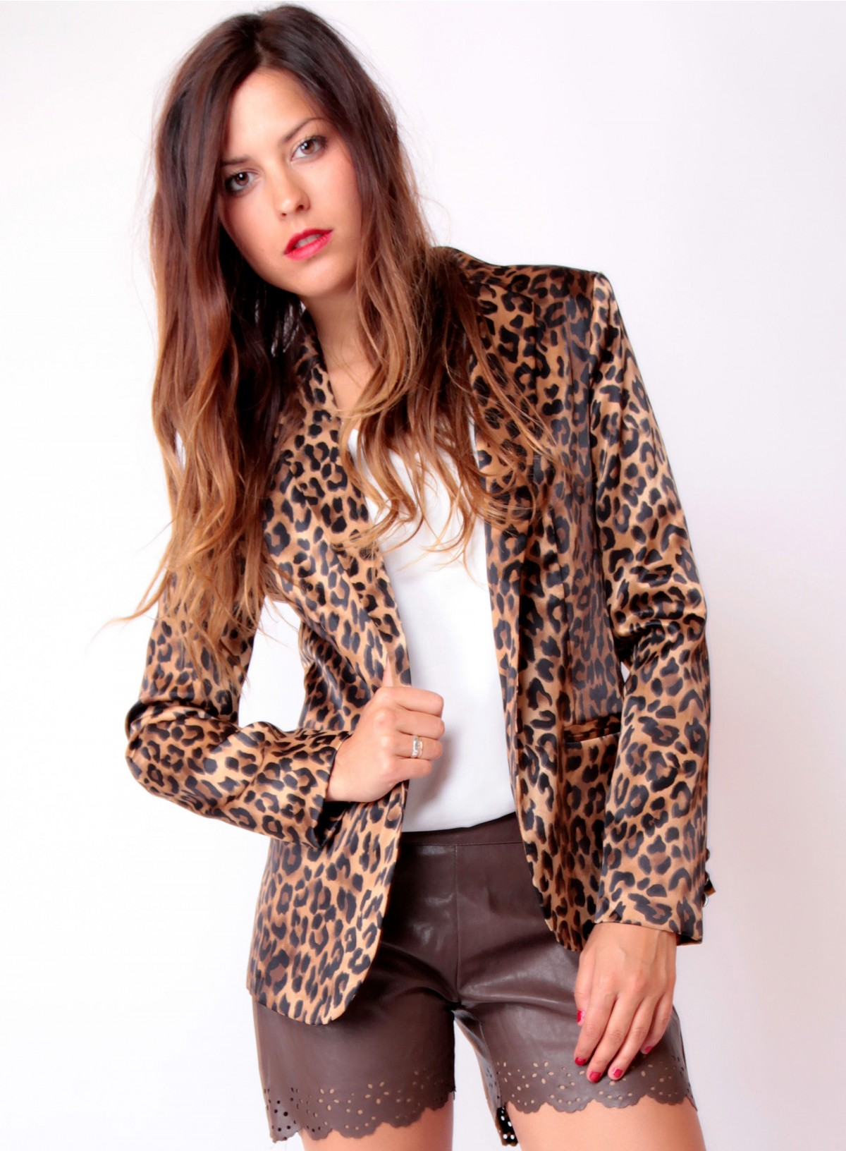 veste blazer femme leopard. Black Bedroom Furniture Sets. Home Design Ideas
